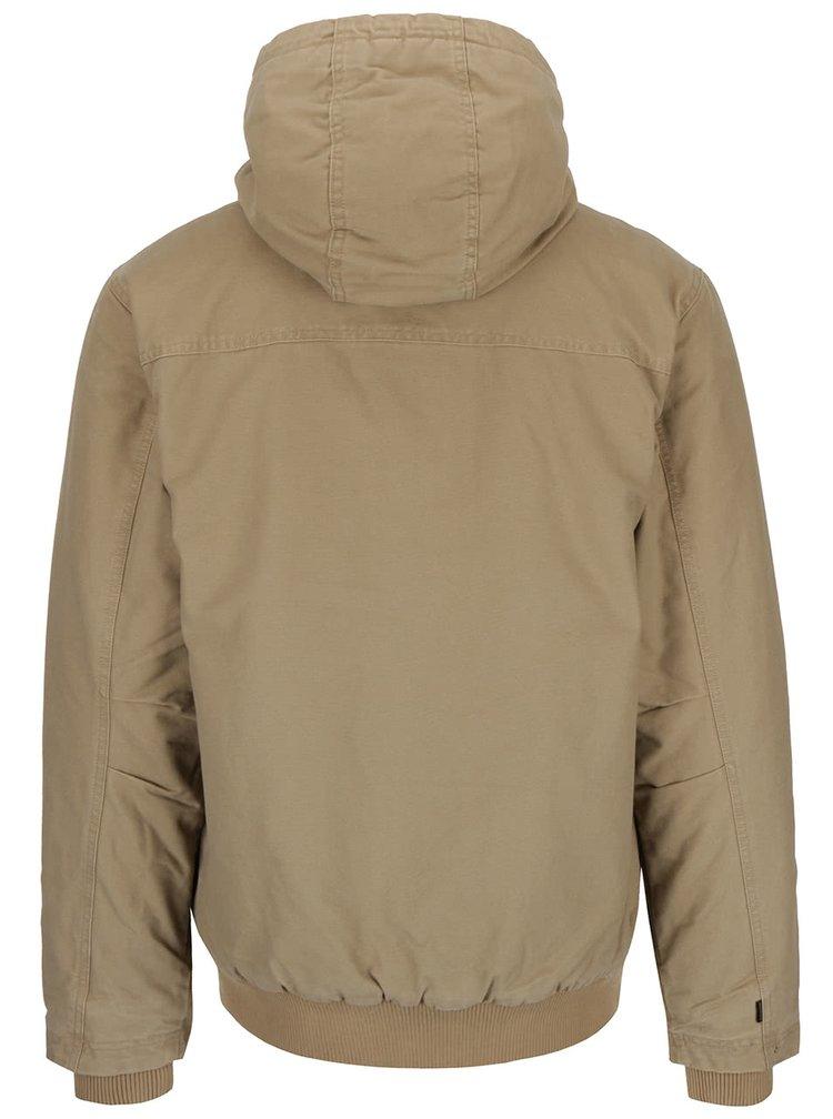 Béžová pánska bunda s elastickým lemom Quiksilver Everydaybrooks