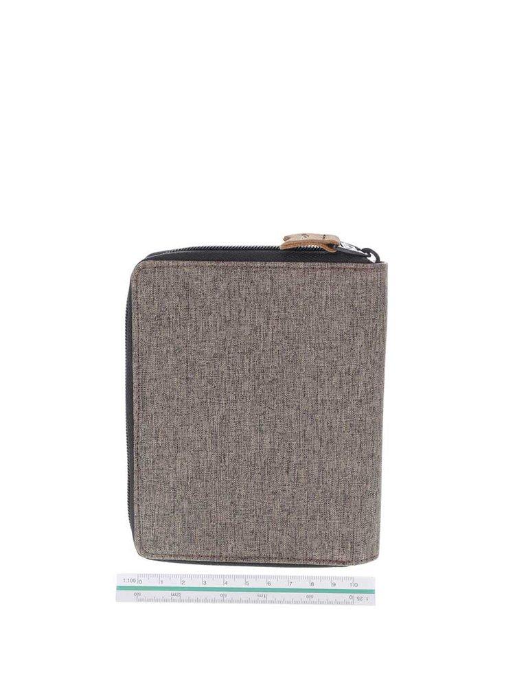 Hnedá pánska väčšia peňaženka Quiksilver Travel