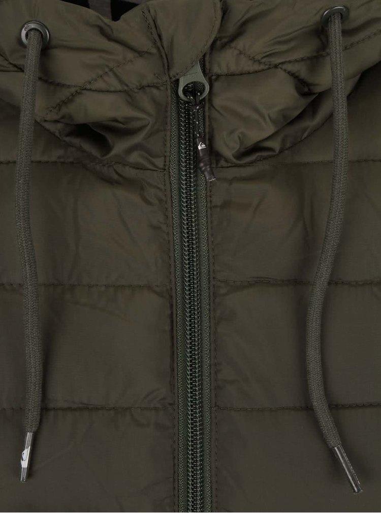 Khaki pánská prošívaná bunda Quiksilver Everyday Scaly