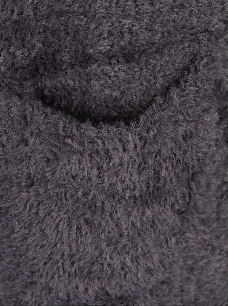 Tmavě šedý cardigan s kapucí Haily´s Mika