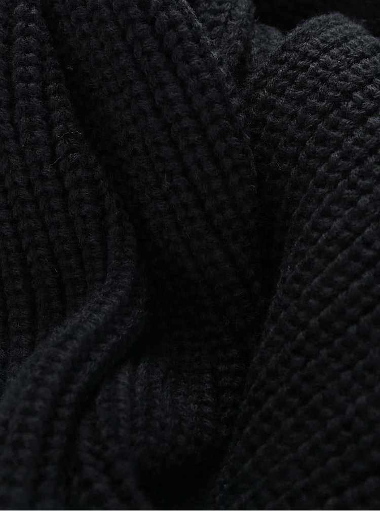 Černá dutá šála Jack & Jones Crib