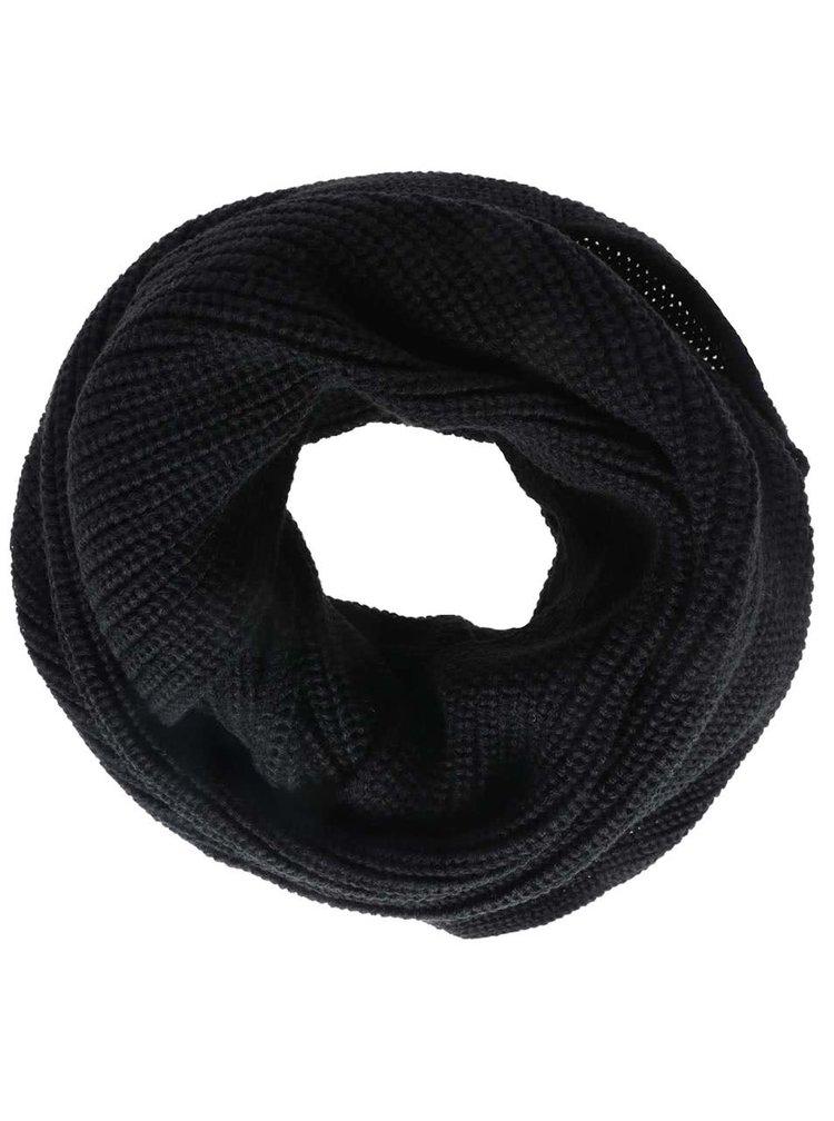 Fular circular negru Jack & Jones Crib