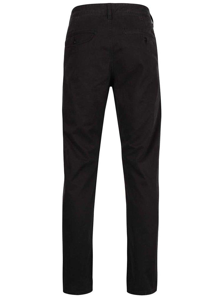Černé pánské chino kalhoty Quiksilver Krandy