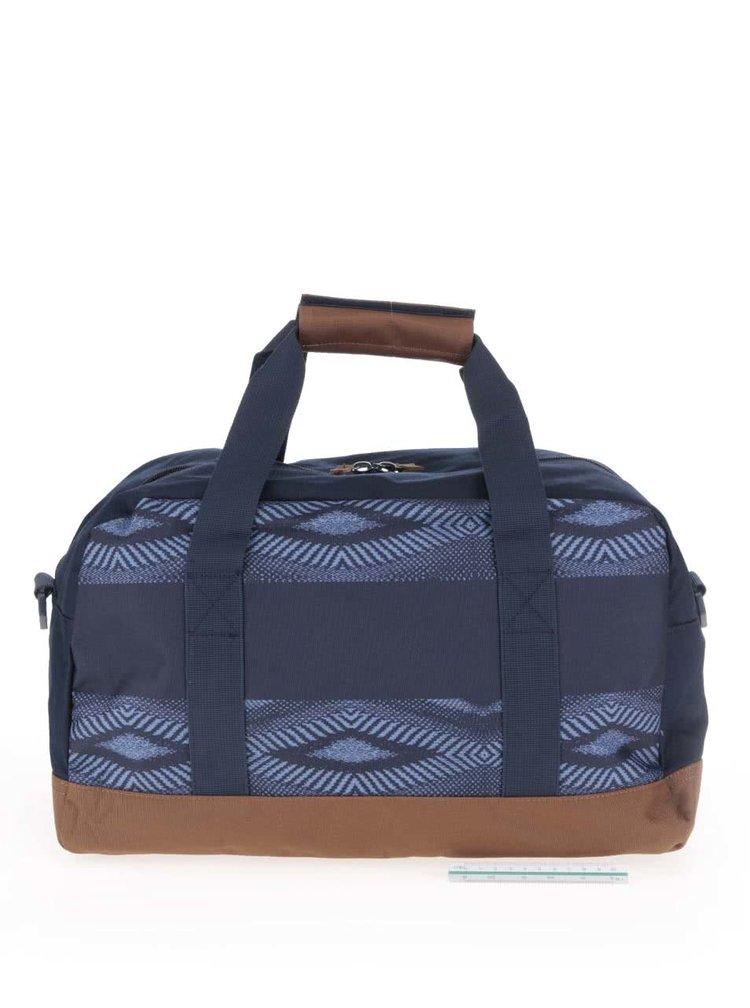 Hnedo-modrá pánska cestovná taška so vzorom Quiksilver Shelter