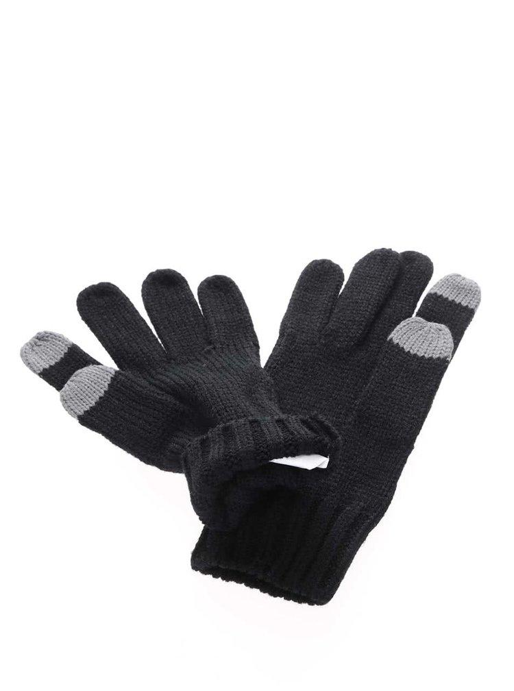 Mânuși negre Roxy Stay tricotate