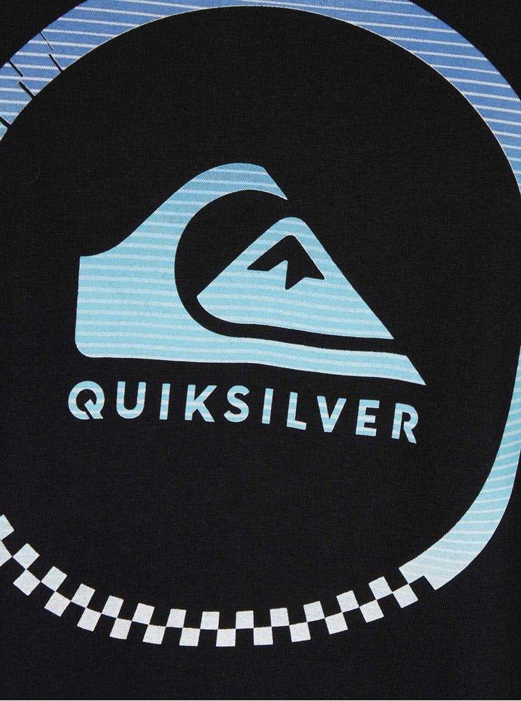 Čierne pánske tričko s potlačou Quiksilver Clastess Activlo