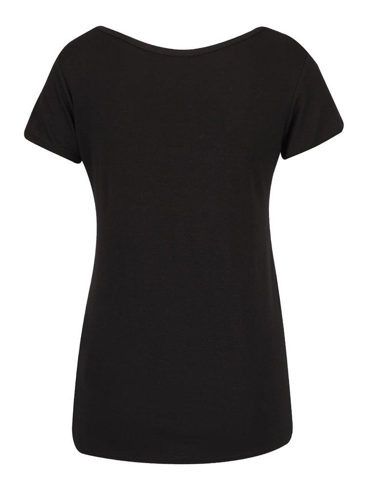 Tricou negru Haily´s Badge cu aplicații
