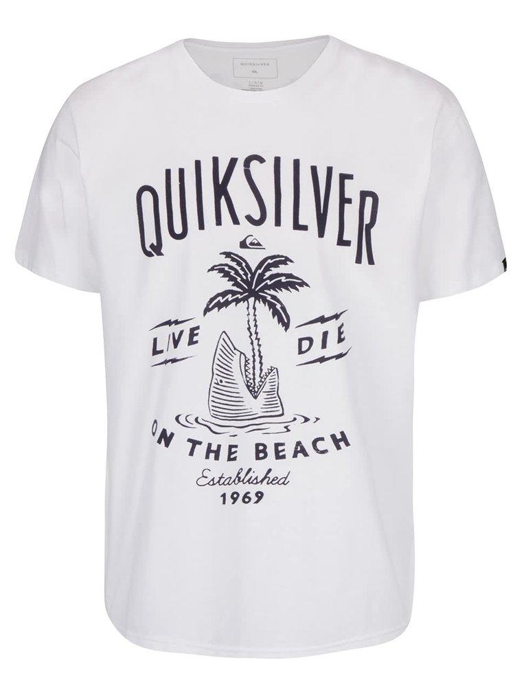 Tricou alb Quiksilver Clastess Activlo din bumbac