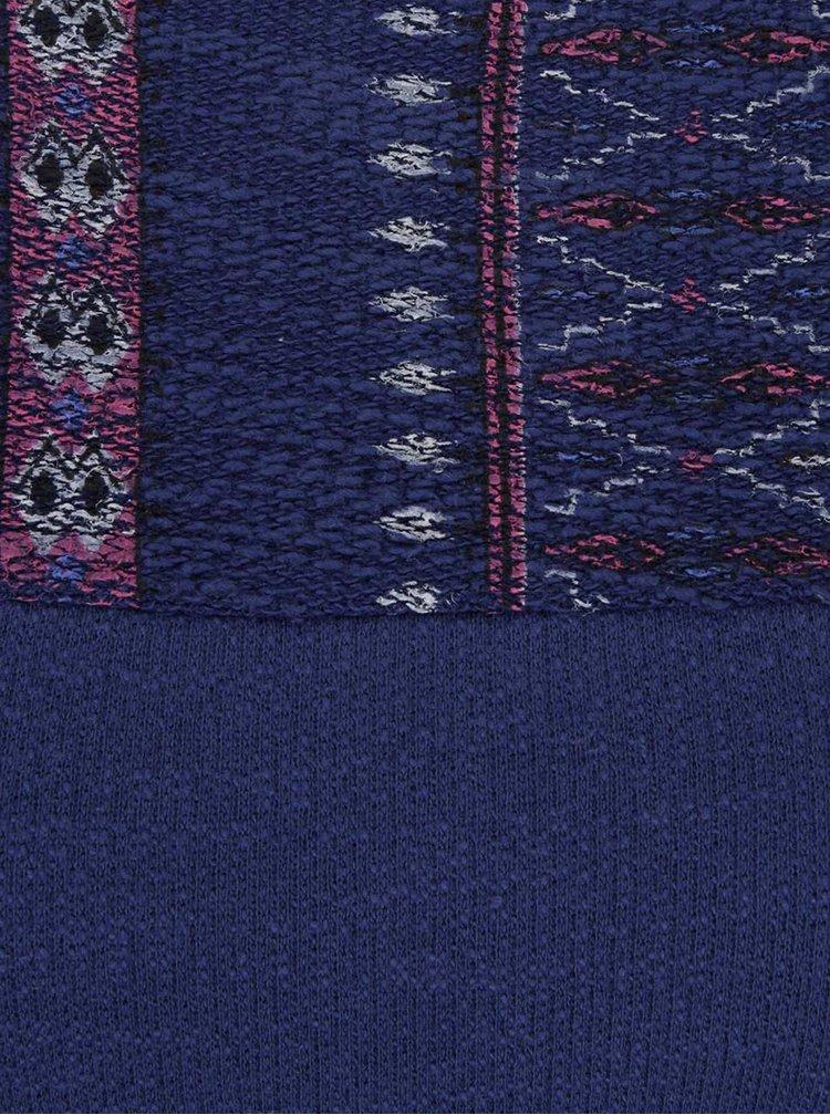Modrá mikina se vzorovanými detaily Roxy Soul