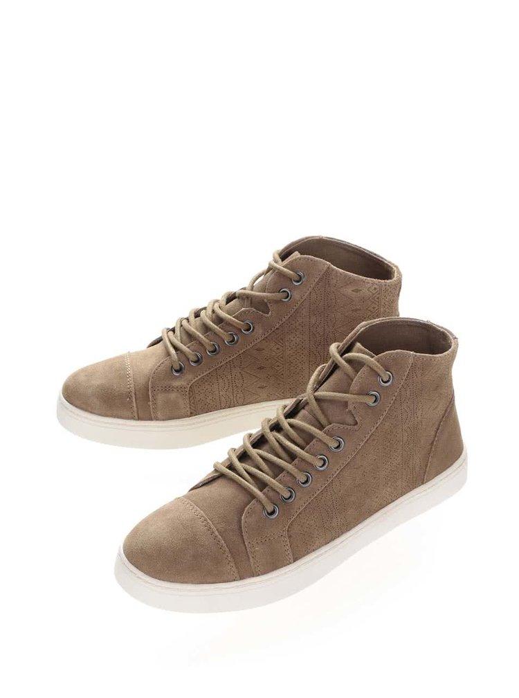 Hnedé členkové semišové topánky Roxy Melbourne