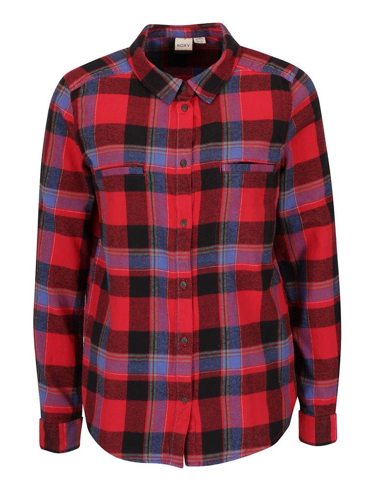 Červená kockovaná košeľa Roxy Campay