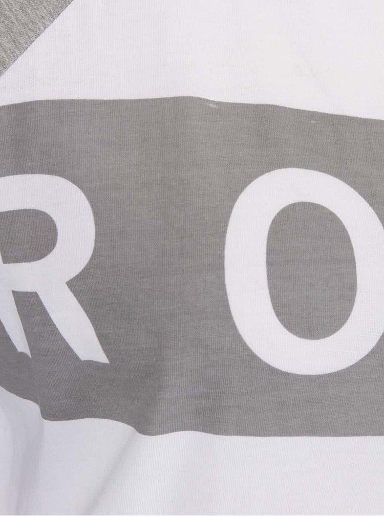 Bluză alb-gri Roxy Love cu print