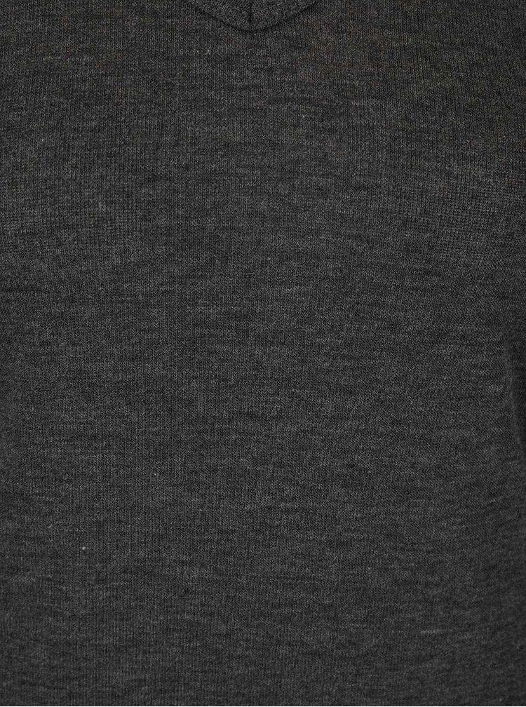 Bluza gri  Haily´s Kira cu decolteu in V