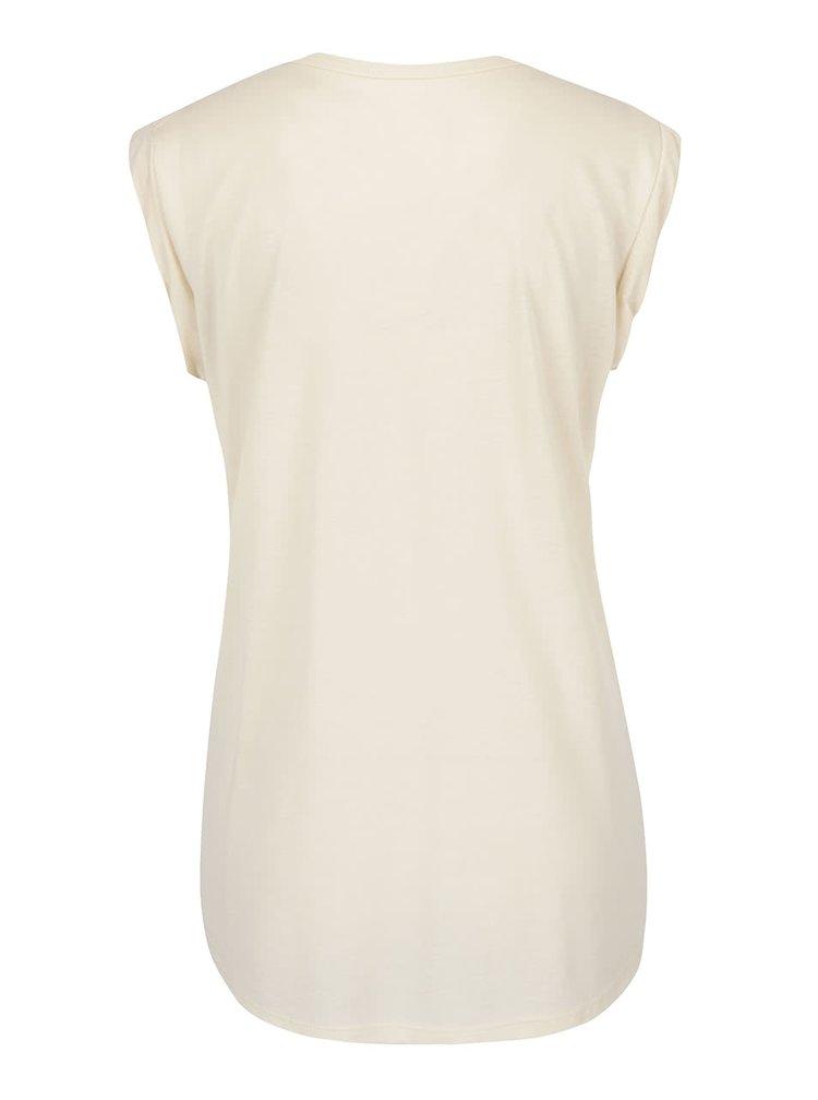 Tricou crem Roxy Crazymountain cu print