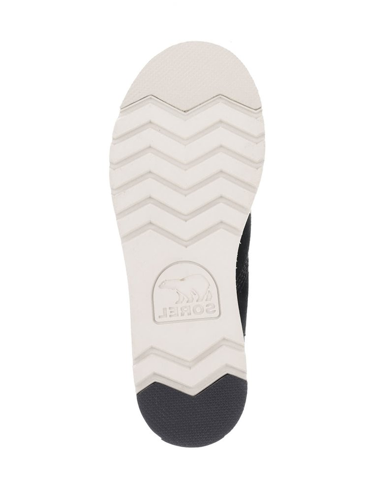 Sivo-čierne kožené vodeodolné zimné topánky SOREL Rylee