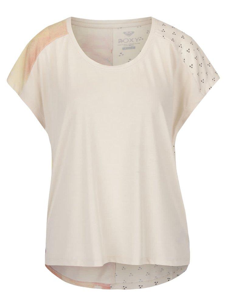 Krémové volnější tričko bez rukávů s potiskem na zádech Roxy Fashionlakeblis