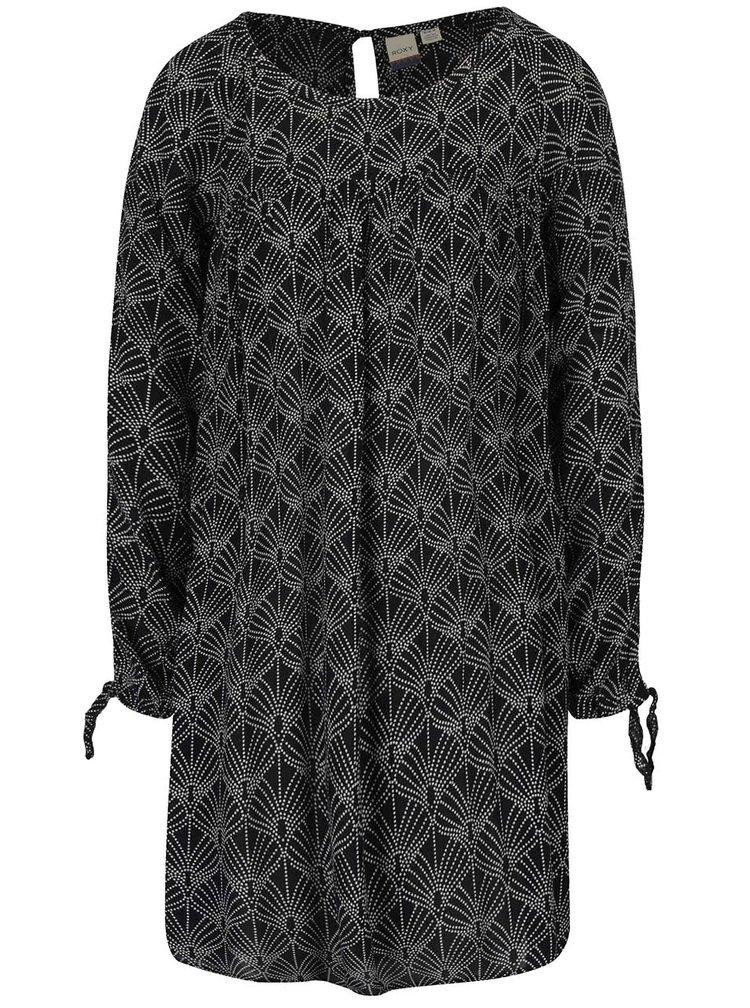 Rochie neagră Roxy Definitely cu imprimeu