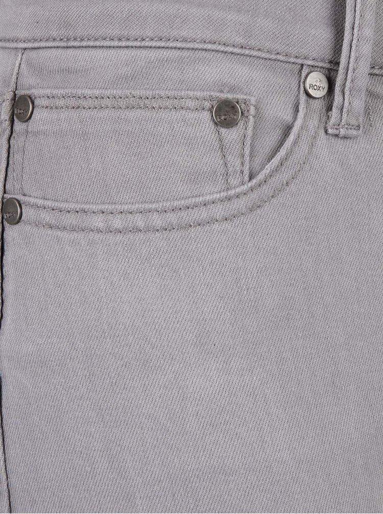Světle šedé skinny džíny Roxy Rebel