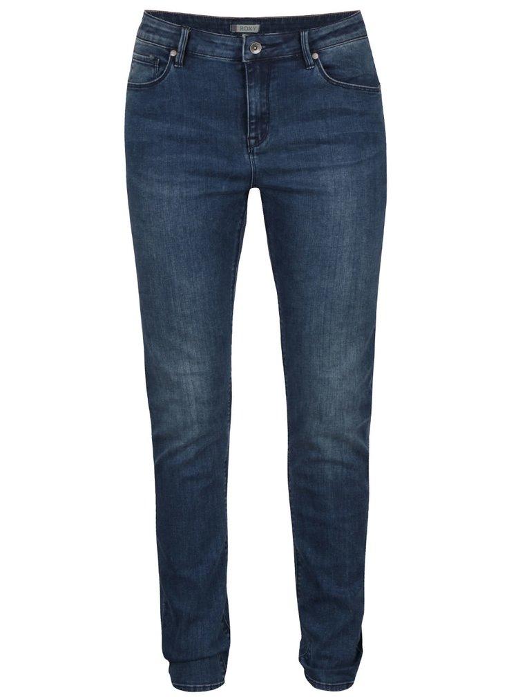Modré skinny džíny Roxy Suntrippers