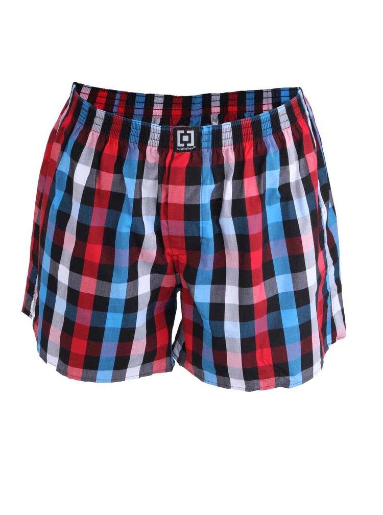 Pantaloni scurți roșii Horsefeather Sin din bumbac cu model în carouri