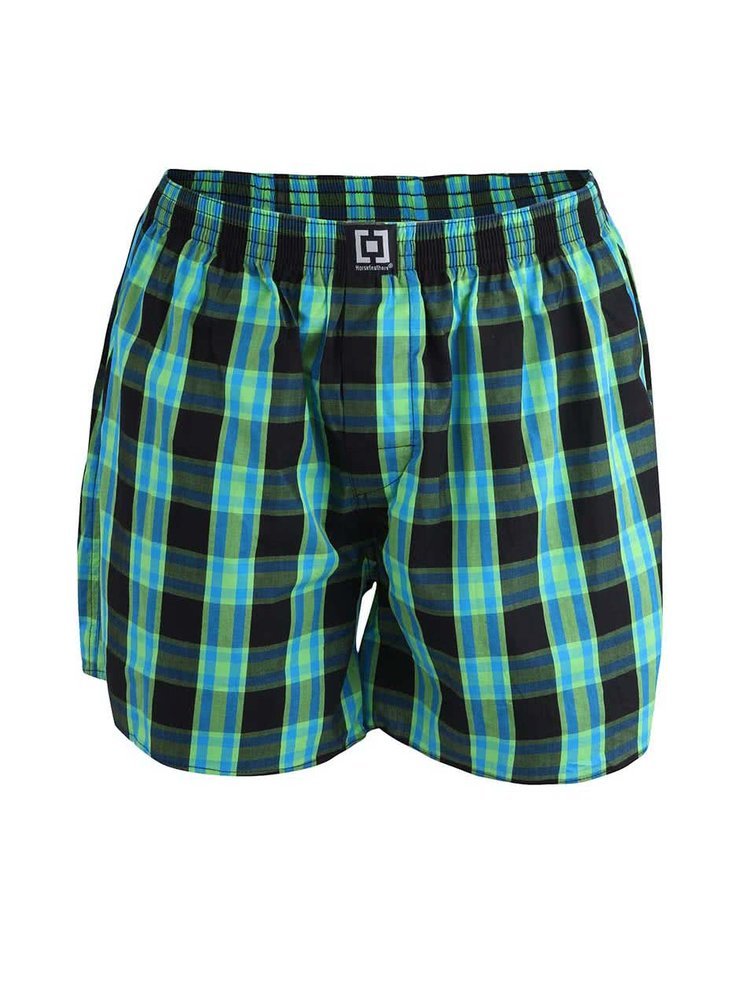 Pantaloni scurți negri & verde Horsefeather Sin din bumbac
