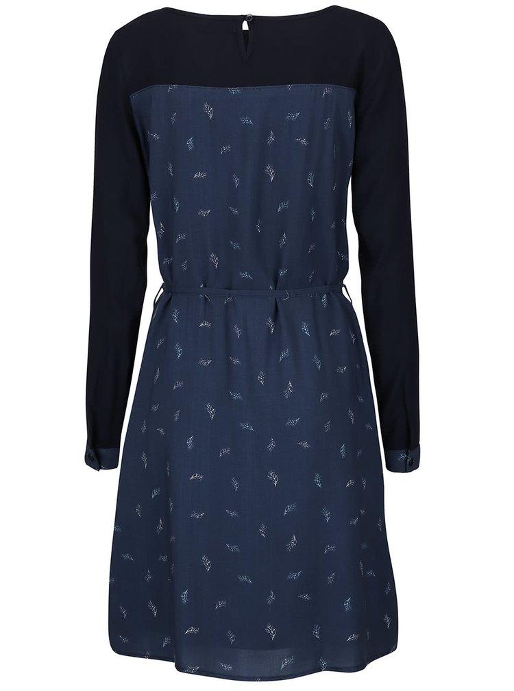 Tmavě modré šaty s potiskem Lavand