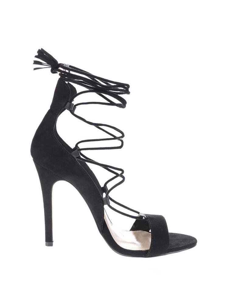 Sandale negre Miss Selfridge cu barete