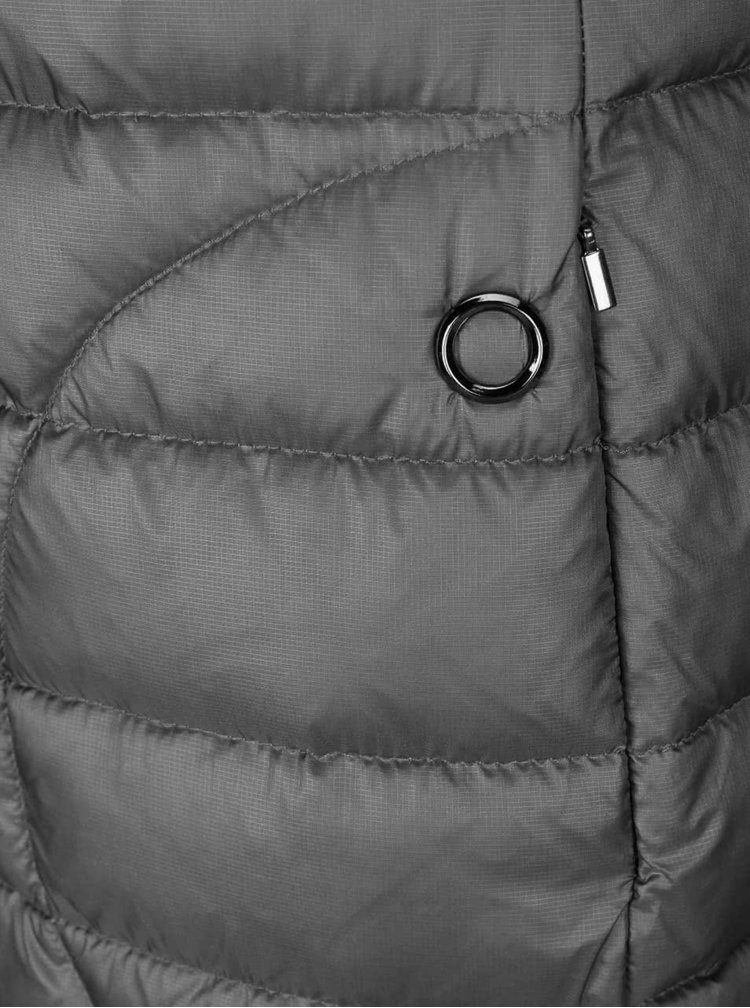 Šedý dámský prošívaný kabát Bugatti