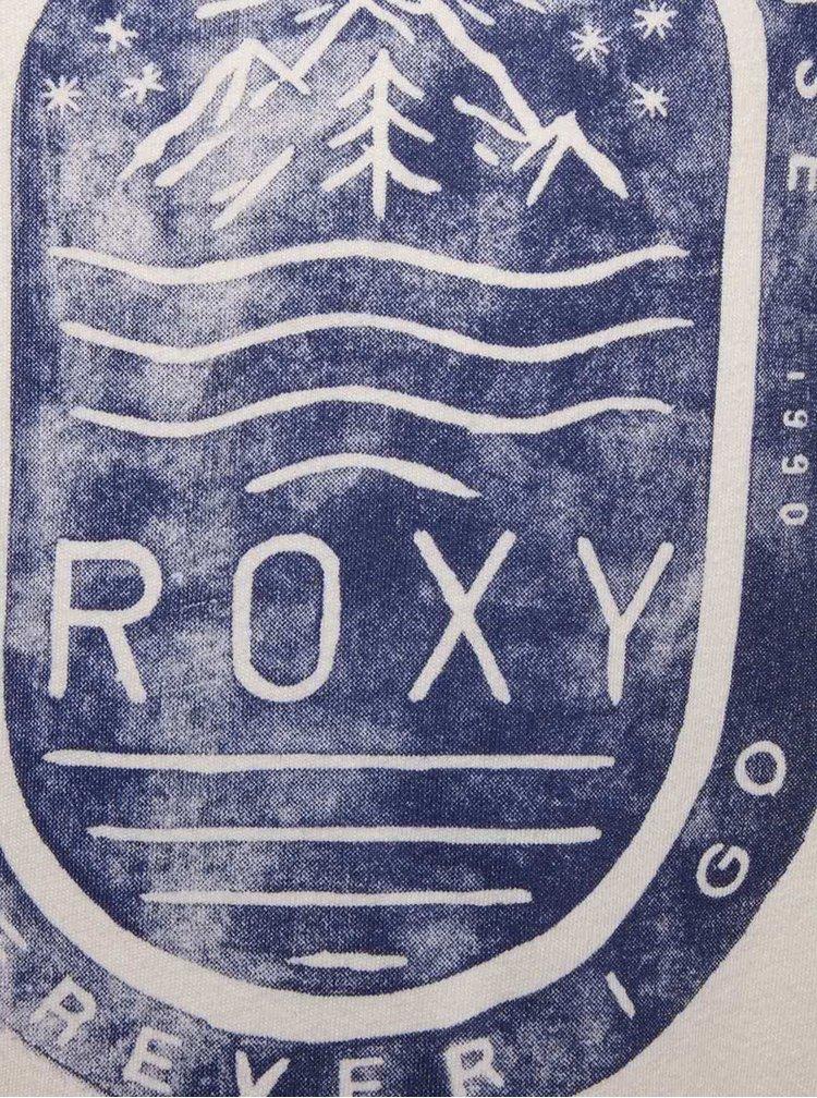Tricou crem Roxy din bumbac pentru fete