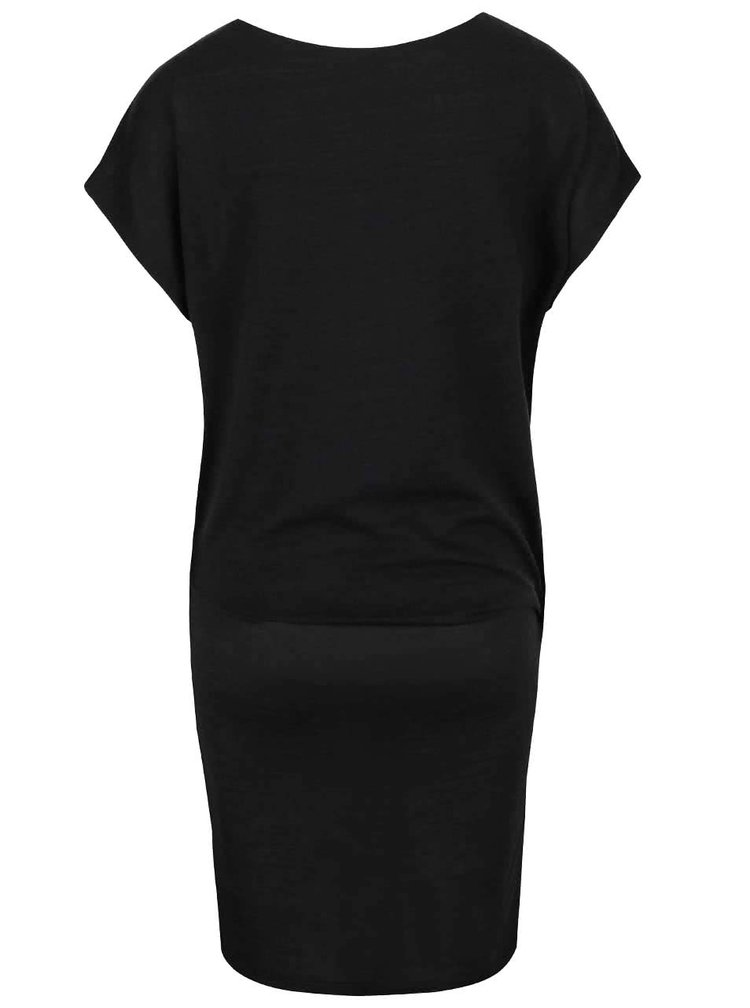 Tmavosivé elastické šaty s voľnejším topom VILA Sissa