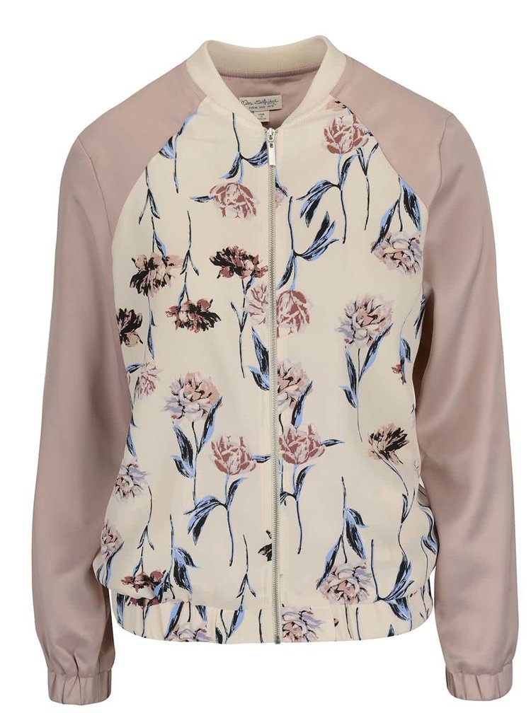 Jachetă bomber roz Miss Selfridge cu model