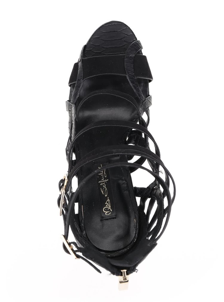 Sandale negre Miss Selfridge cu toc