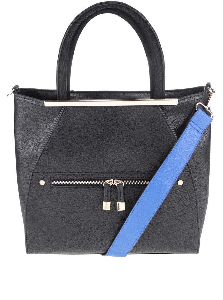 Geantă neagră Miss Selfridge cu bretea albastră