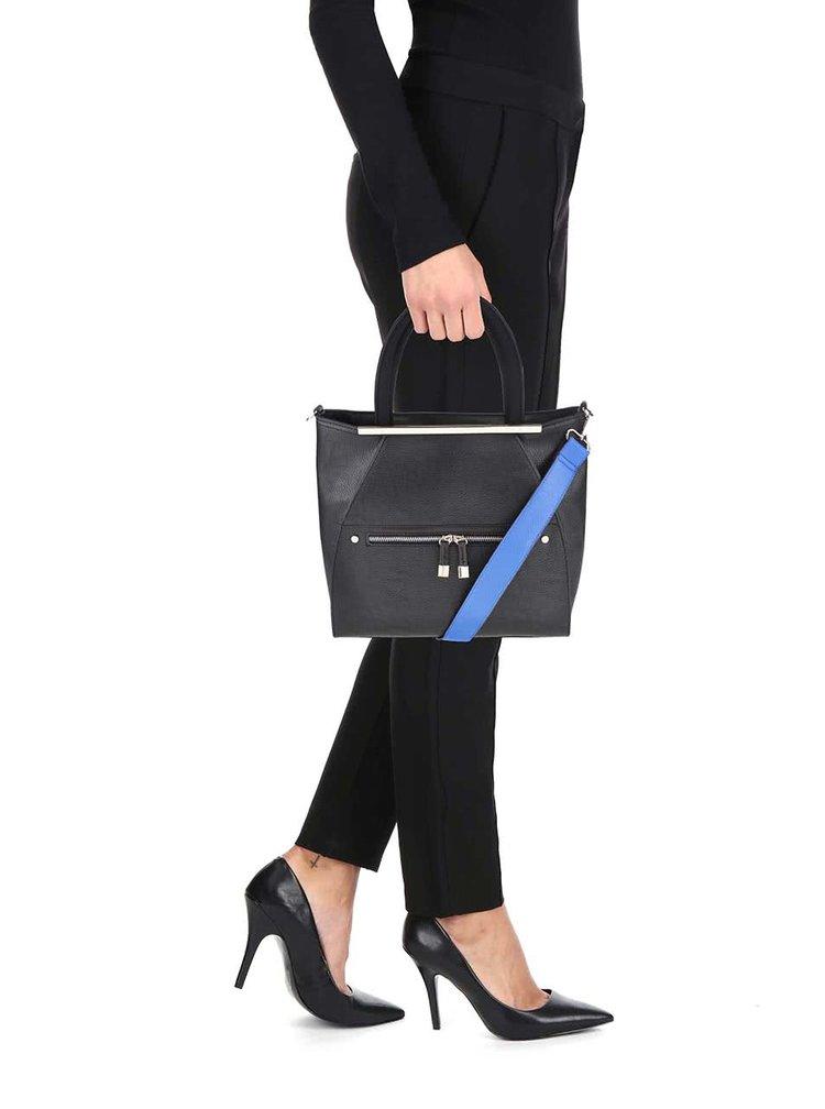 Černá kabelka se zlatými detaily Miss Selfridge