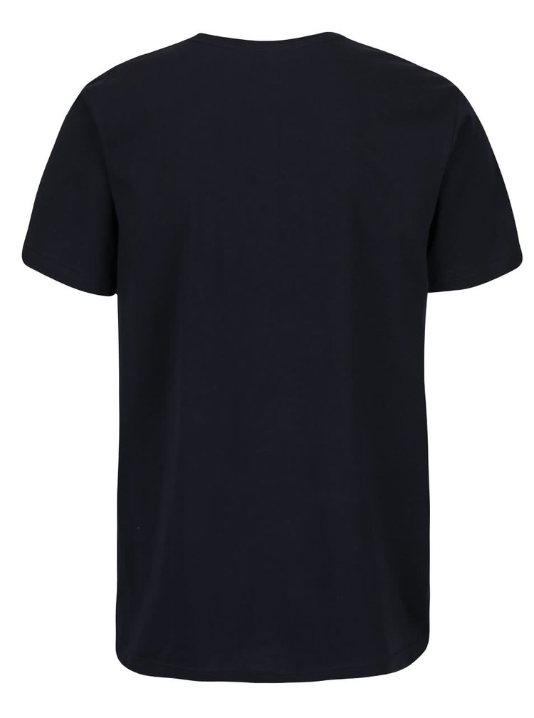 Tmavomodré pánske tričko s dlhým rukávom Quiksilver Classteels Jumhe