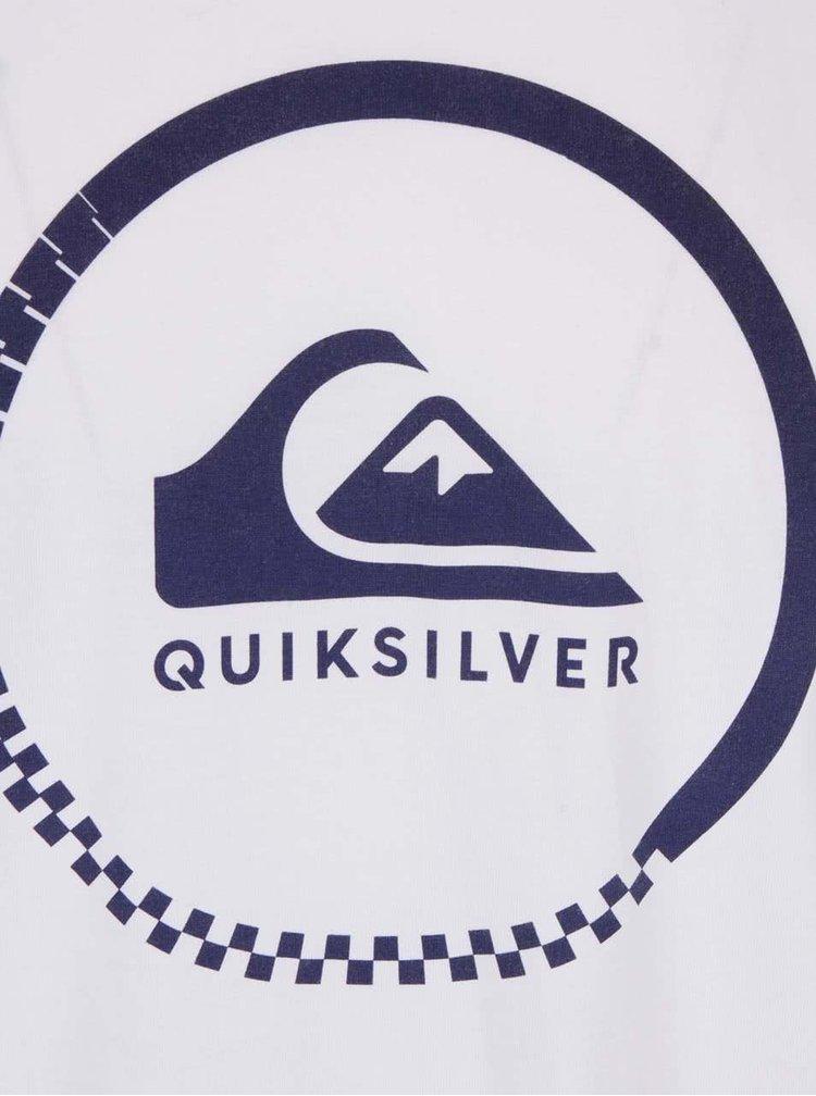 Tricou alb Quiksilver Clastess Activlo din bumbac cu imprimeu