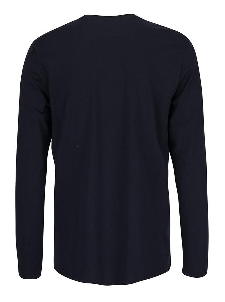 Tmavě modré pánské triko s potiskem Quiksilver Classfree Wheell