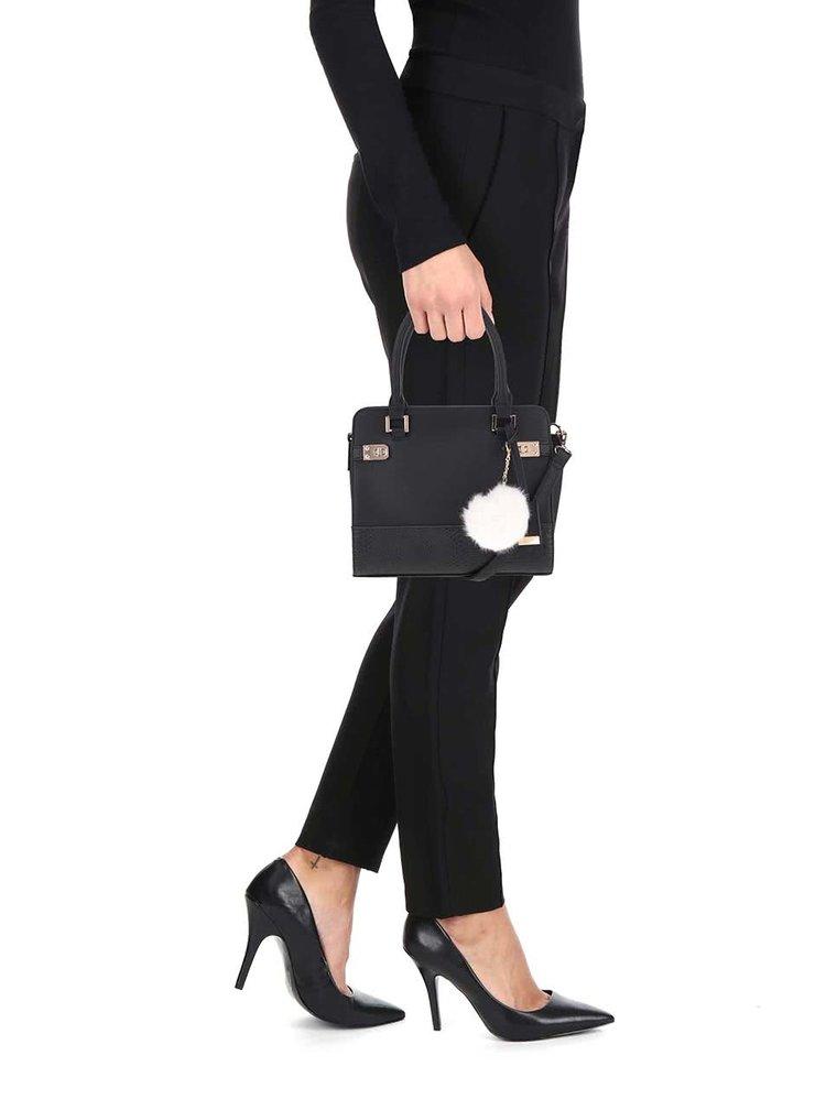 Čierna kabelka s príveskom Miss Selfridge