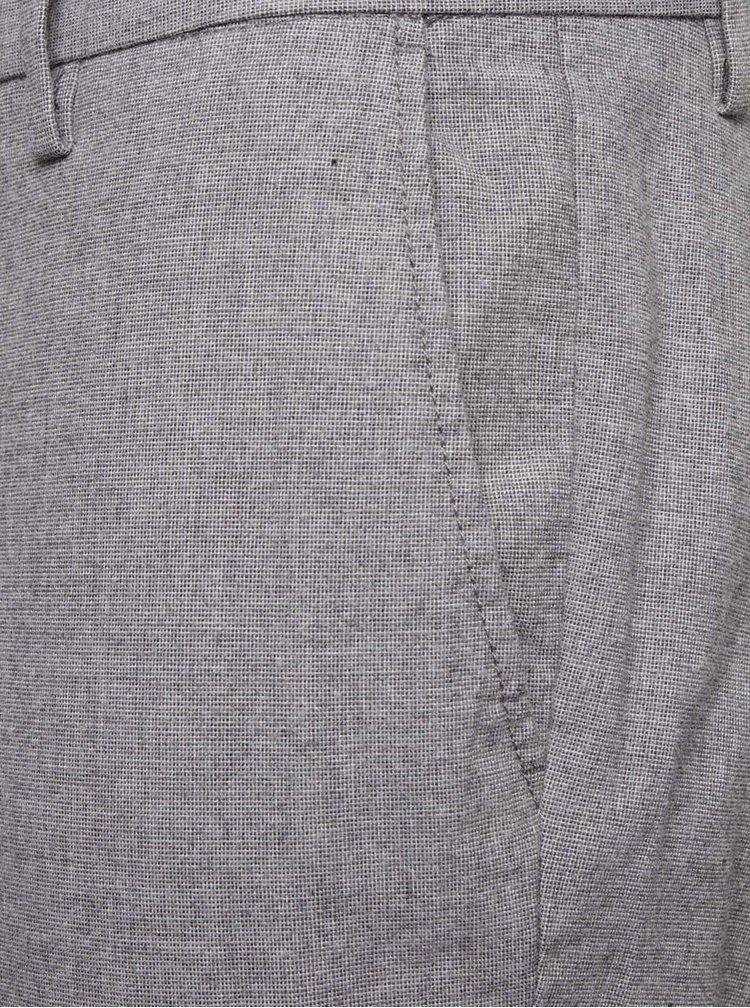 Světle šedé slim fit kalhoty Burton Menswear London