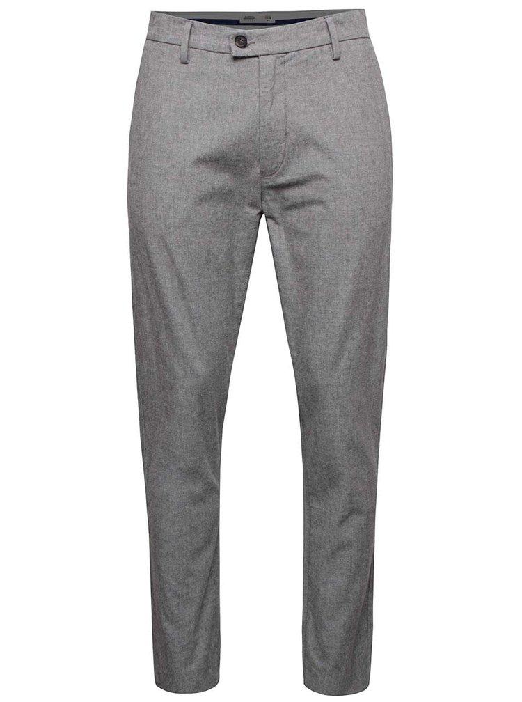Svetlosivé slim fit nohavice Burton Menswear London