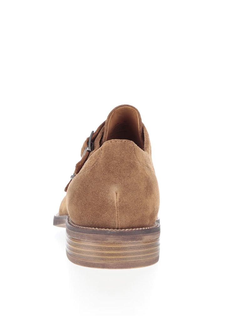 Pantofi maro Vagabond Mario din piele întoarsă