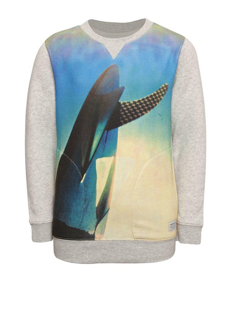 Bluză gri Quiksilver cu print pentru băieți