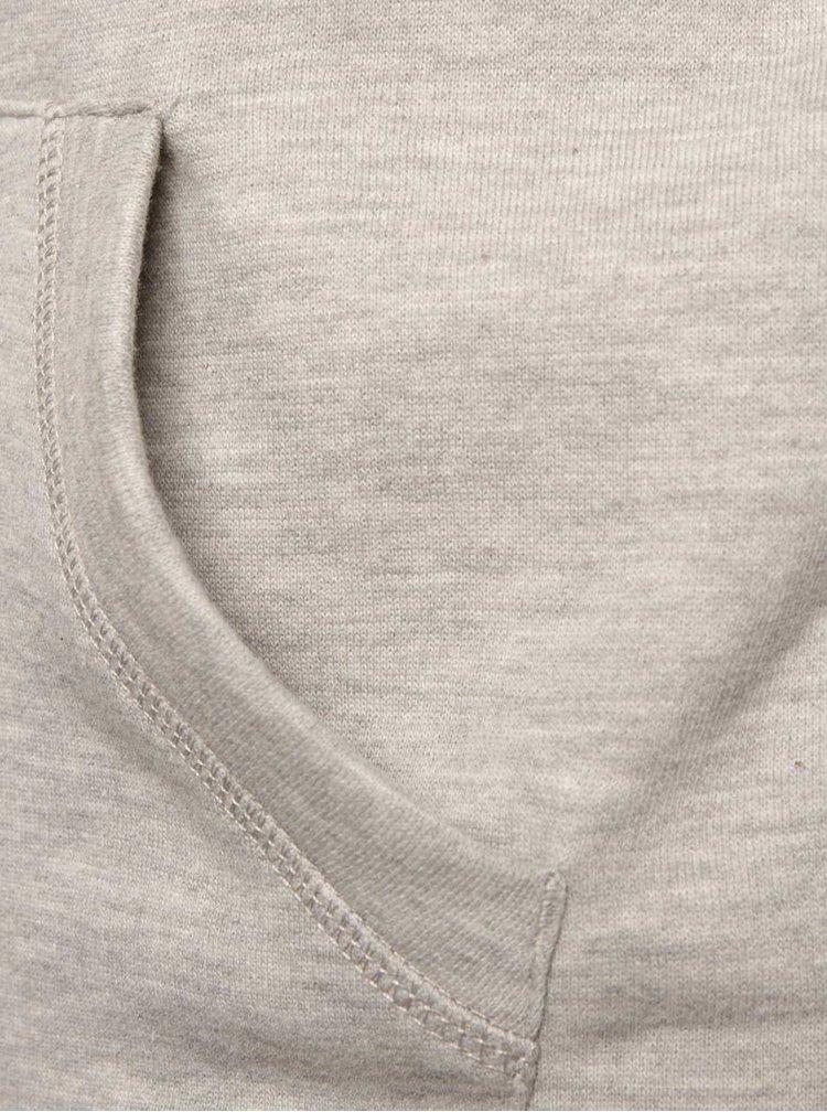 Světle šedá holčičí mikina se vzorem a s kapsou Roxy