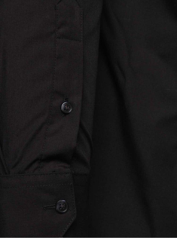 Čierna formálna slim fit košeľa Burton Menswear London