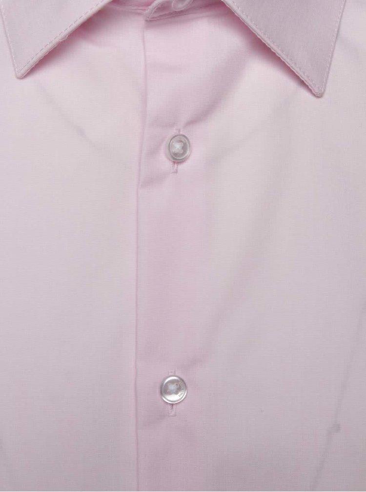 Světle růžová formální slim fit košile Burton Menswear London