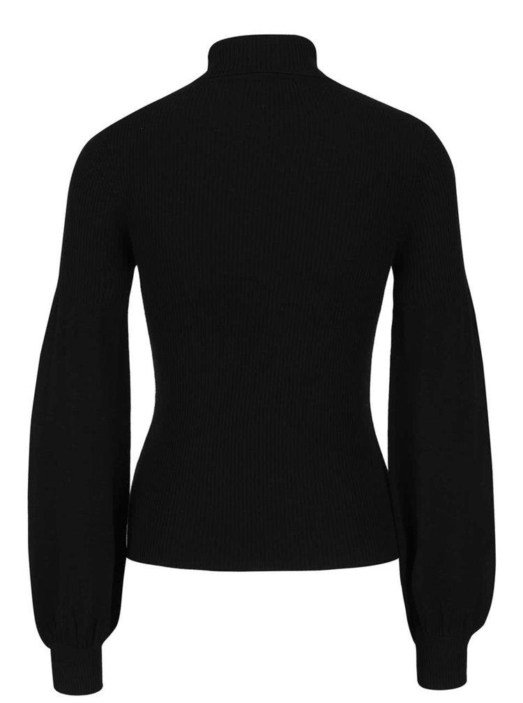 Černý svetr s rolákem a volnými rukávy Miss Selfridge