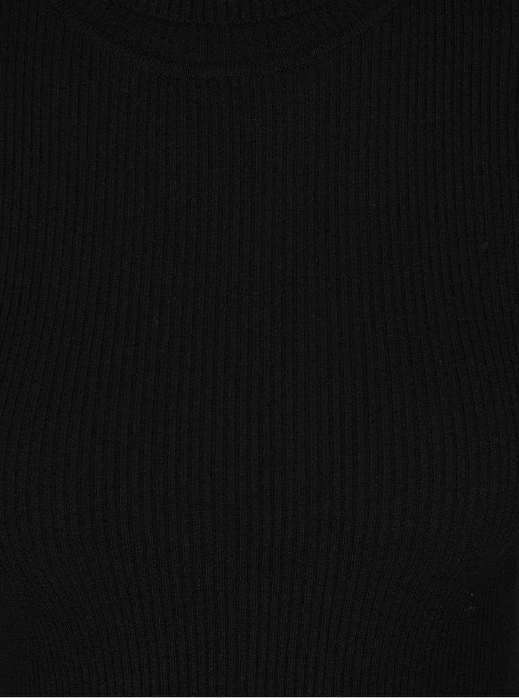 Pulover negru Miss Selfridge cu maneci ample