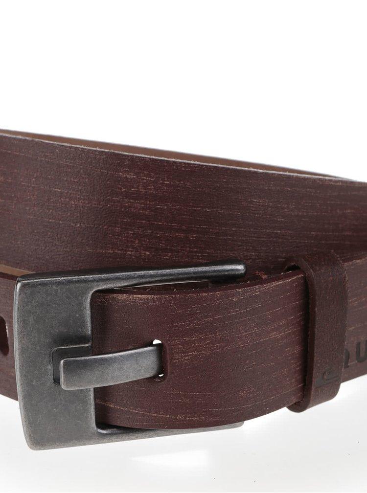 Hnědý pánský kožený pásek Quiksilver Revival