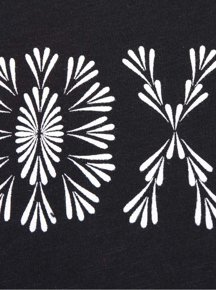 Čierne tričko s nápisom a dlhým rukávom Roxy Tonikhightides