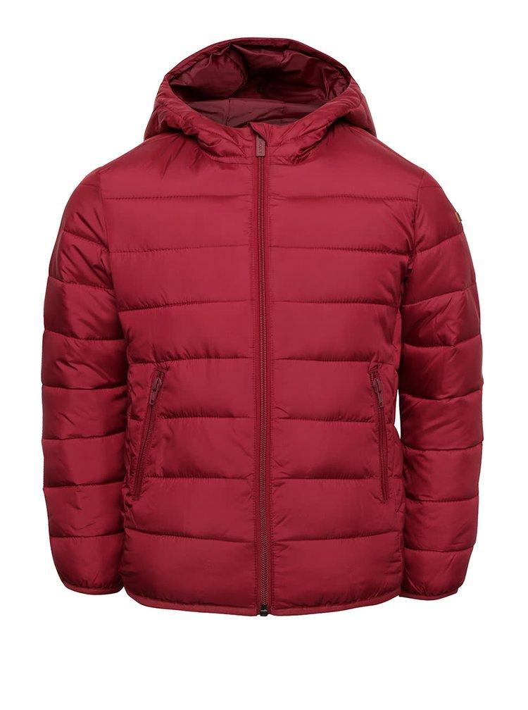 Vínová holčičí prošívaná bunda s kapucí Roxy